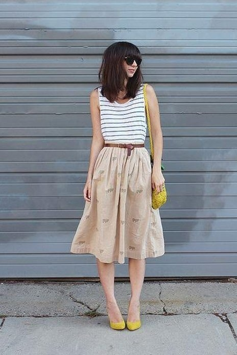 pale brown cotton skirt