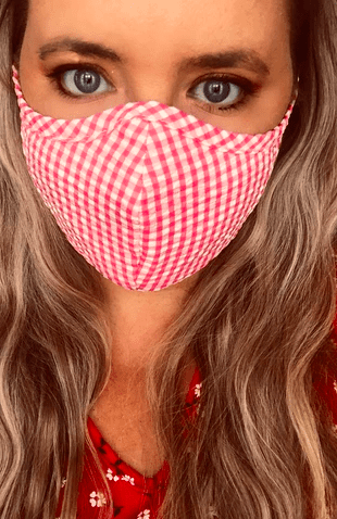 A Pink Stripe Active Face Mask