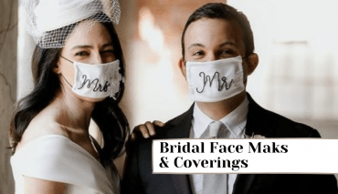 Stylish Masks And Coverings For Bride And Grooms