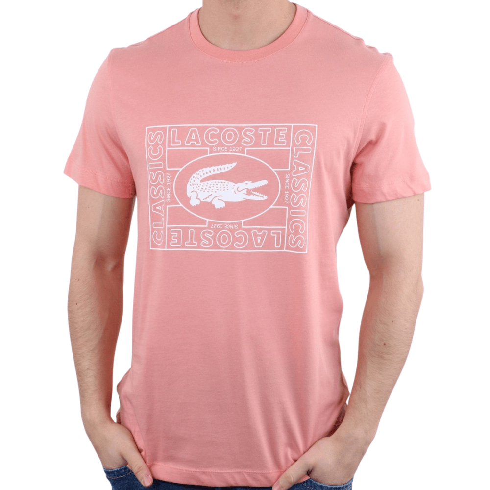 LACOSTE Pink Mens T-Shirt