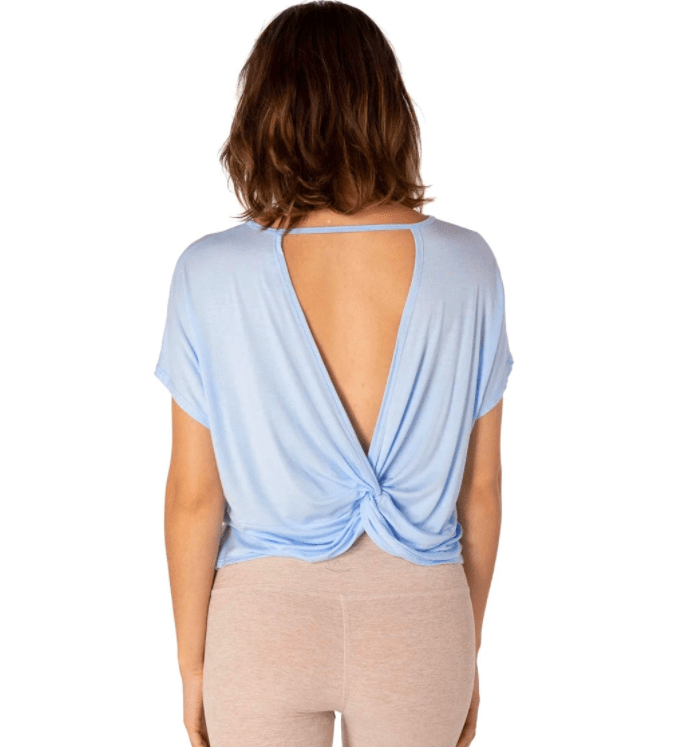 Beyond Yoga Twist Goodbye Cropped Yoga Tee