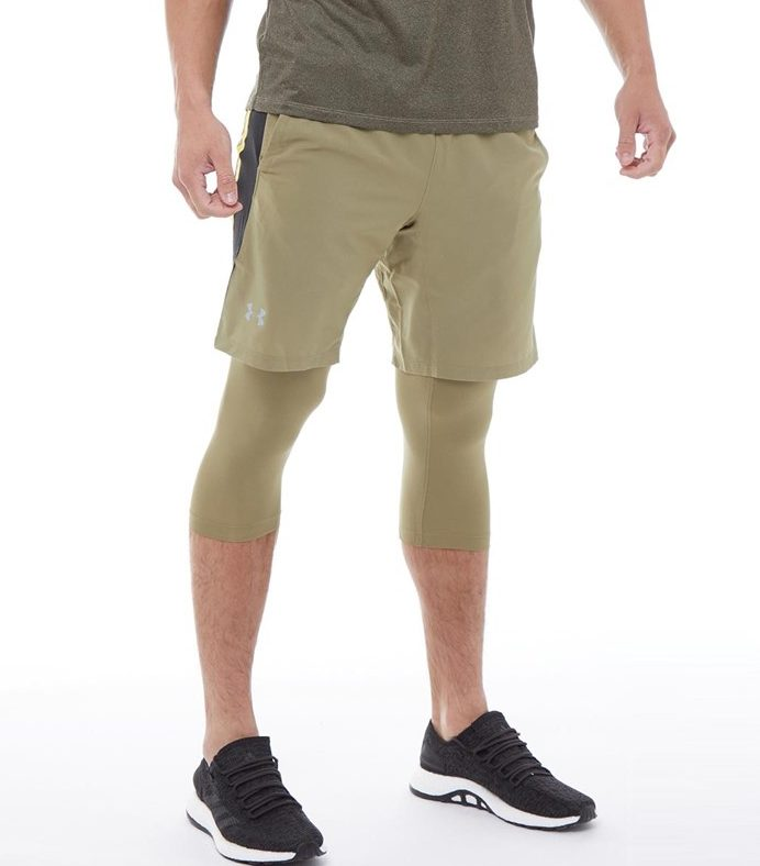 Under Armour Mens Launch 2 In 1 Long Running Shorts