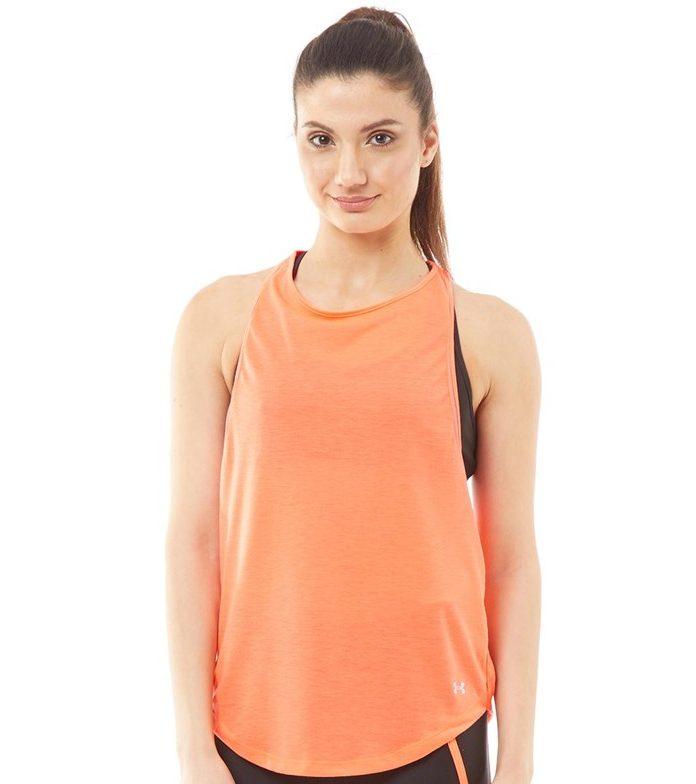Under Armour Womens Whisperlight Mesh Tank Peach Plasma