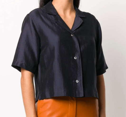 Soulland Cleo cropped shirt