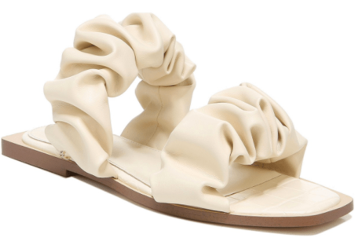 Ruched-Strap Sandals